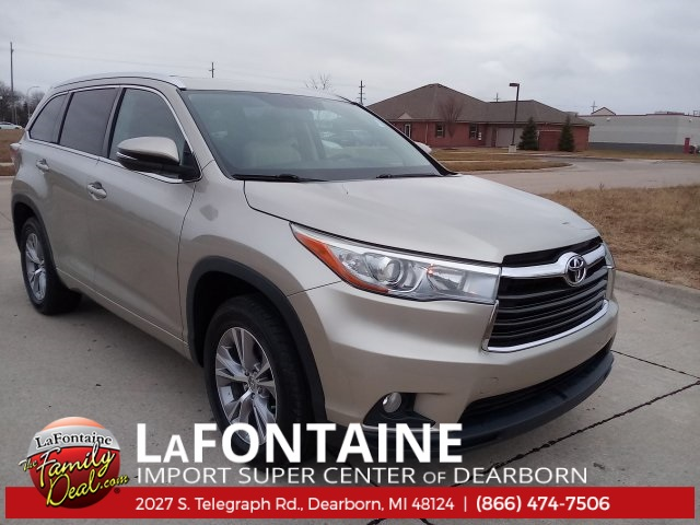 2015 Toyota Highlander For Sale >> Certified Used 2015 Toyota Highlander Xle V6 For Sale Dearborn Mi